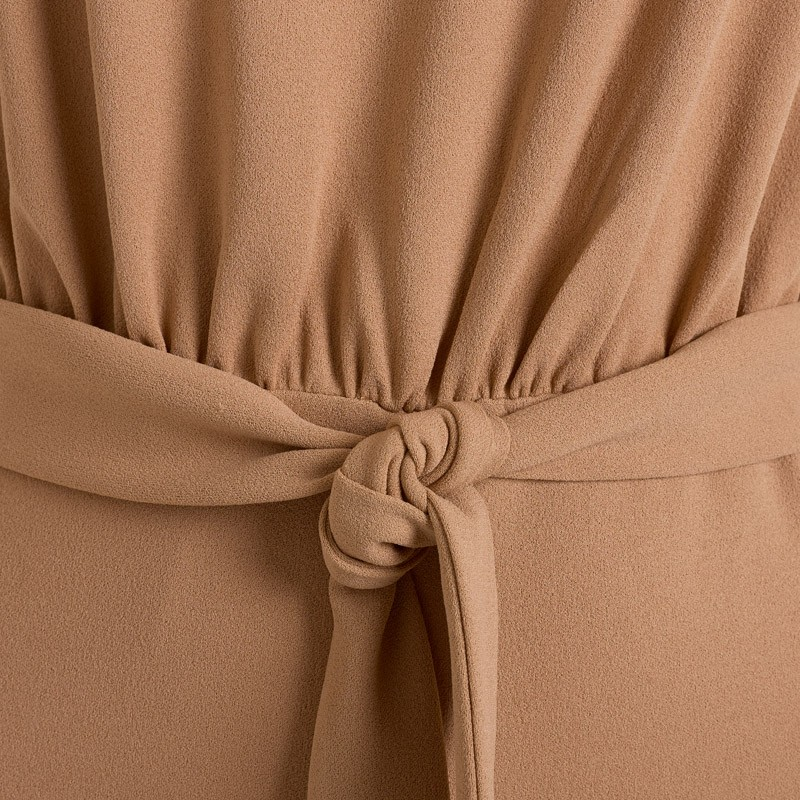 Camel Turtleneck Jumpsuit -