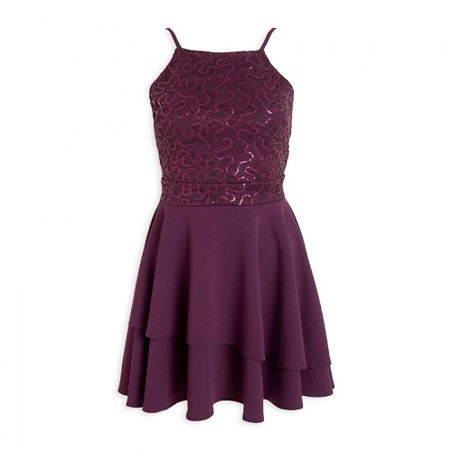 Plum Layered Dress -