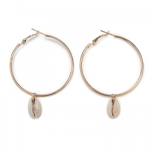 Cowrie Hoop Earrings -