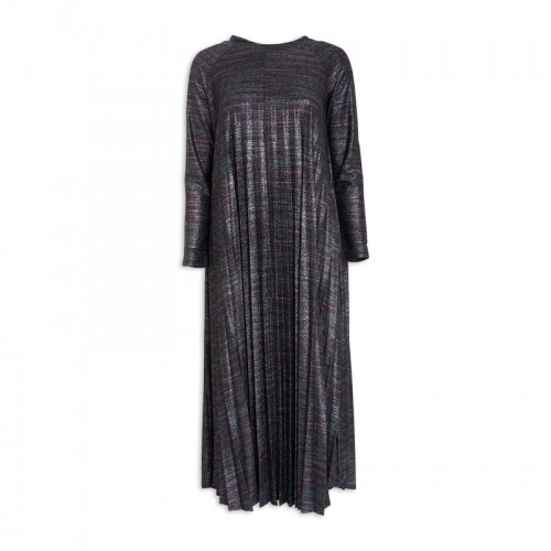 Lurex Pleated Dress -
