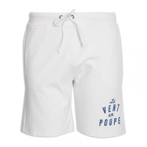 White Printed Jogger Short -