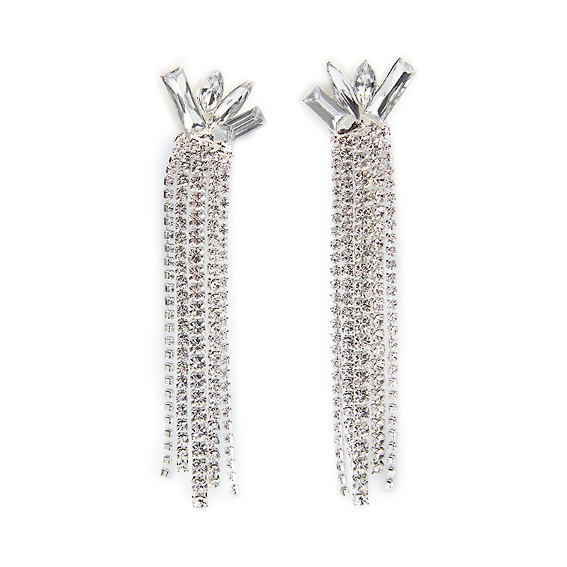 Silver Tassel Earrings -