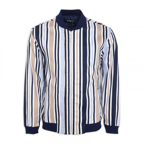 Stripe Bomber Jacket -