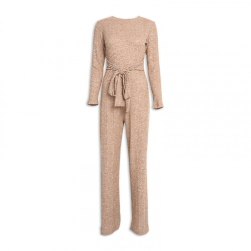 Camel Knit Jumpsuit -