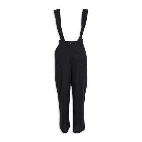 Black Pinafore Pants -