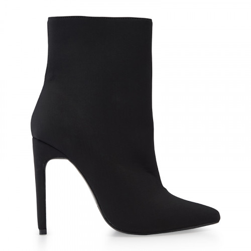 Black Lycra Ankle Boot -