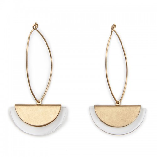 Perspex Halfmoon Earrings -