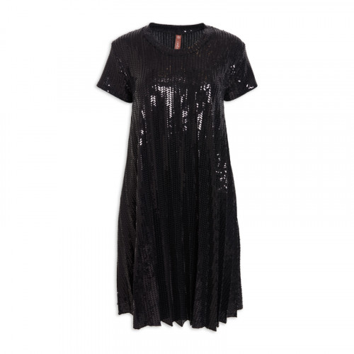 Black Sequin Dress -