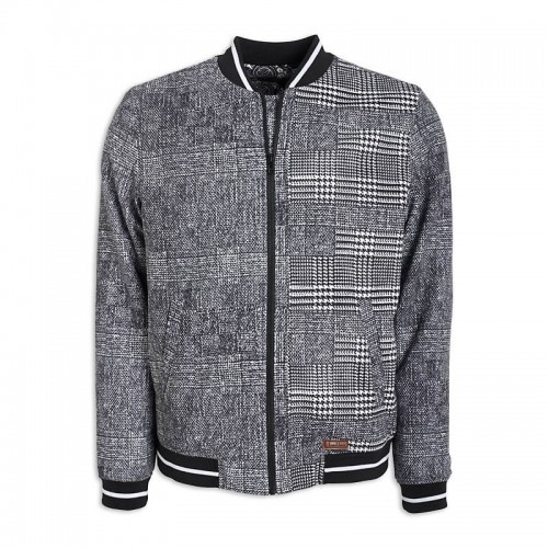 Check Bomber Jacket -