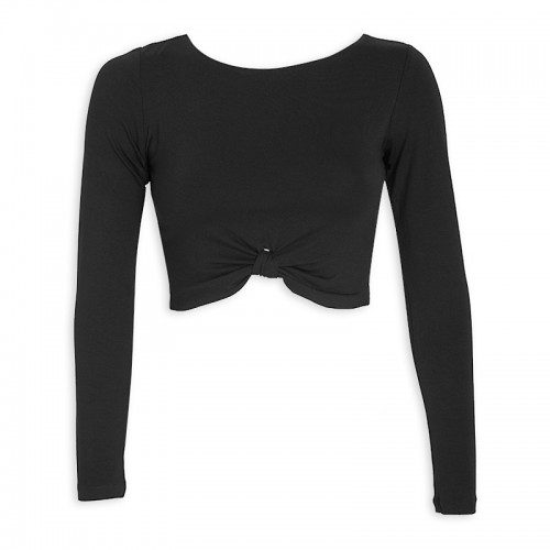 Black Crop Top -
