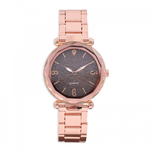 Rose Gold Glitter Watch -