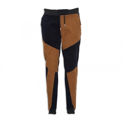 Abstract-paneled Corduroy Joggers -