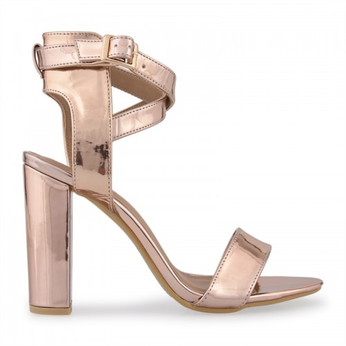 Rose Gold Buckle Sandal -