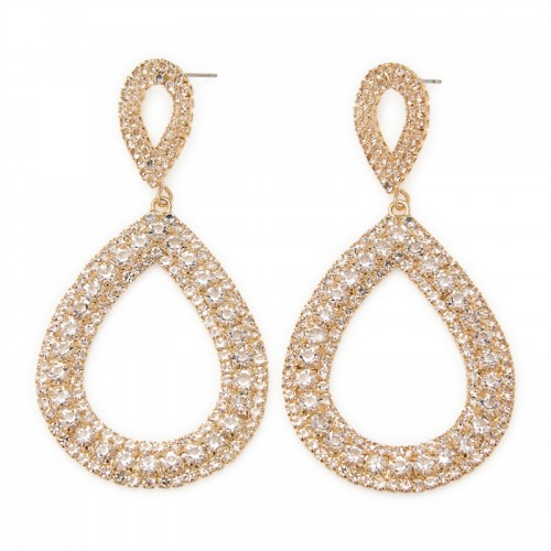 Gold Diamante Teardrop -