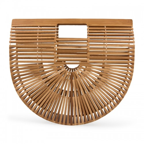 Semi Circle Bamboo Bag -