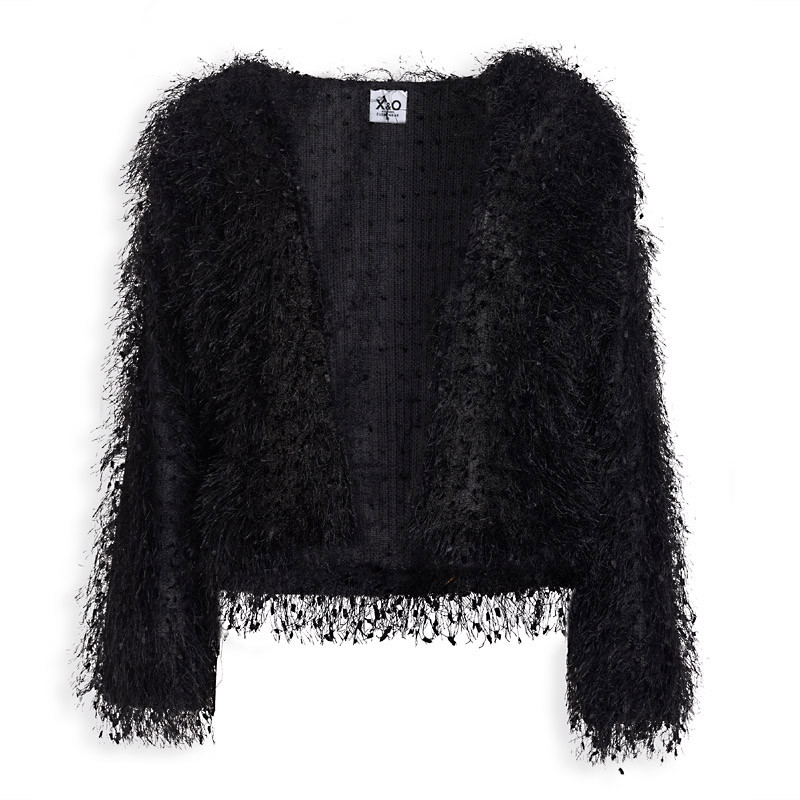 Black Fringe Top -