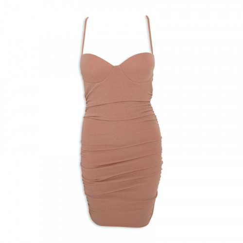 Nude Gather Dress -