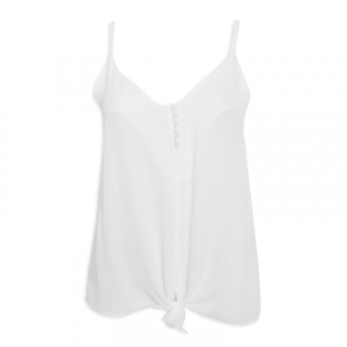 Ivory Button Cami -