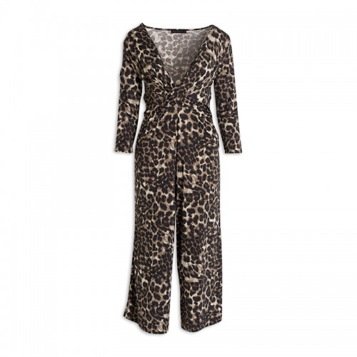 Leopard Twist Jumpsuit -