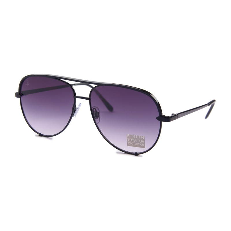 Black Aviator Sunglasses -