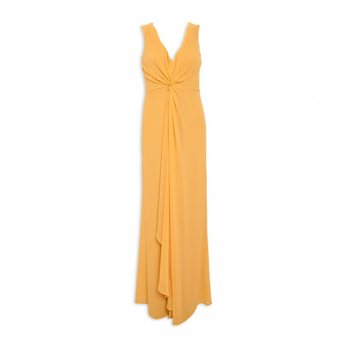 Mustard Waterfall Dress -