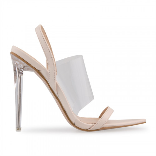 Nude Broad Transparent Vamp Sandal -