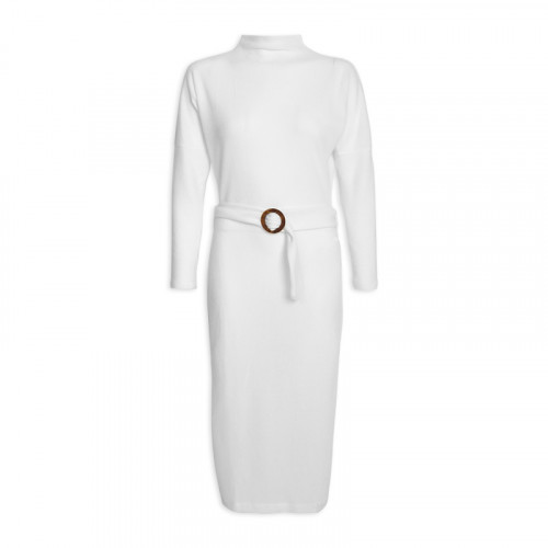 Ivory Turtleneck Dress -