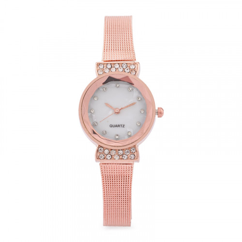 Rosegold Diamante Bow Watch -
