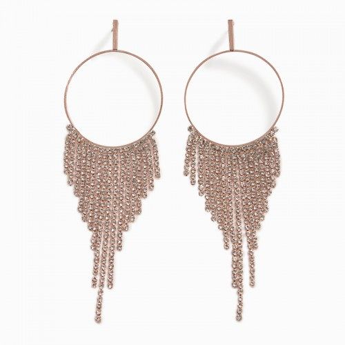 Rose Gold Drop Earrings -