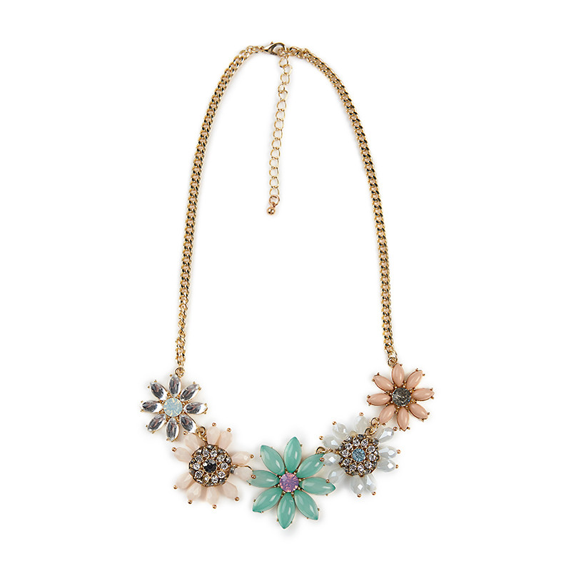 Flower Jewel Necklace -