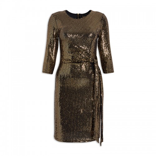 Gold Sequin Dress -