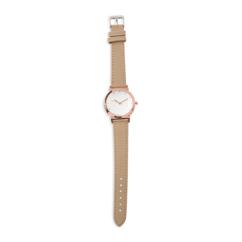 Taupe Suede Feel Watch -
