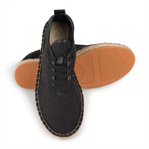 Black lace-up espadril -