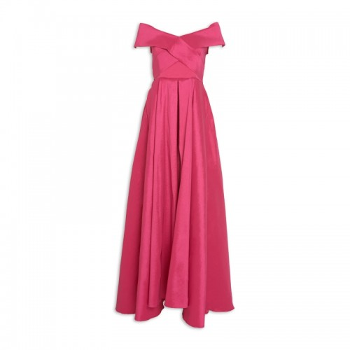 Hotpink Taffeta Dress -