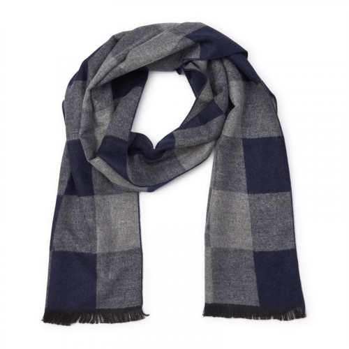 Navy and Grey Pashmina -