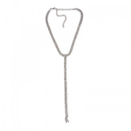 Diamante T Bar Necklace -