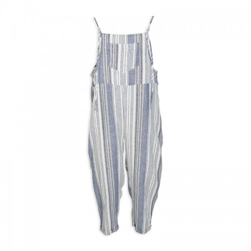 Stripe Linen Dungaree -