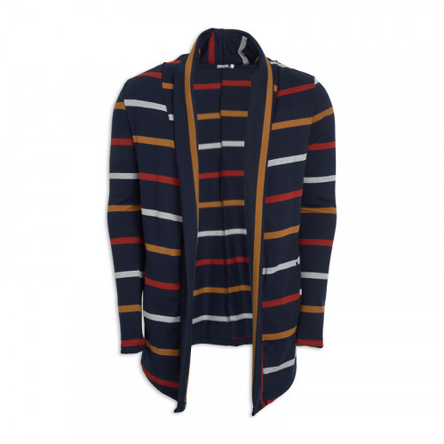 Navy Stripe Shawl Cardigan -