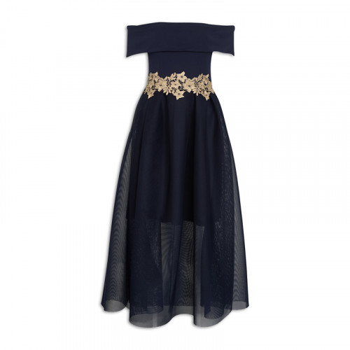 Navy Envelope Dress -