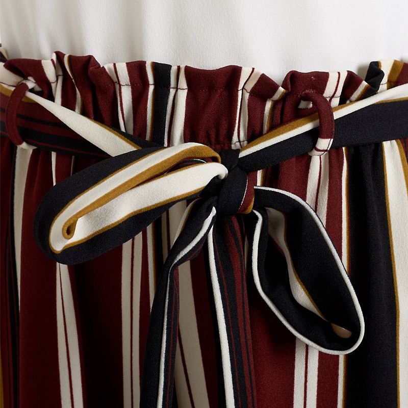 Burgandy Stripe Jumpsuit -