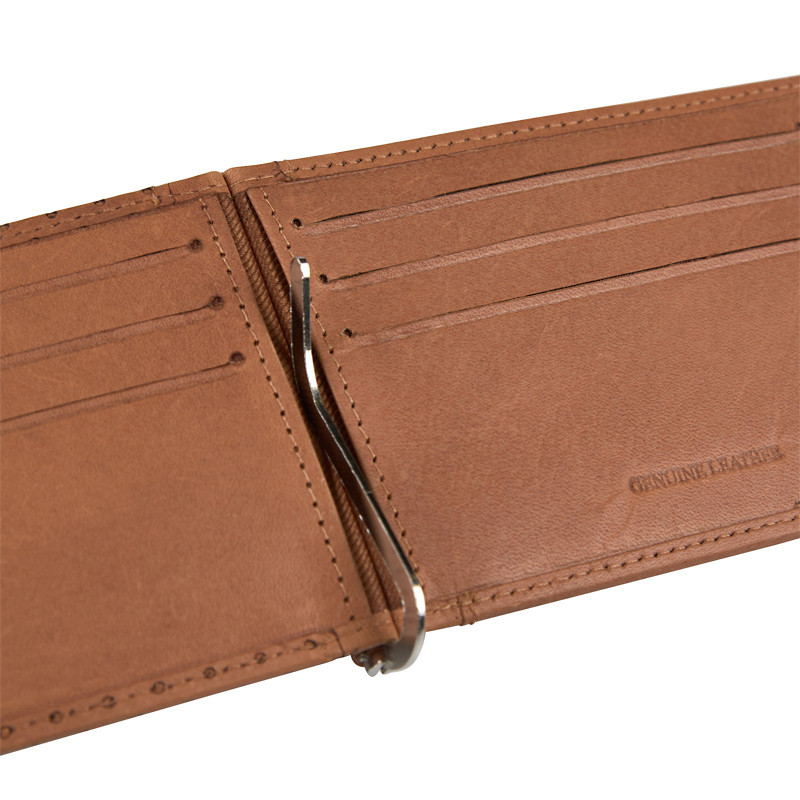 Leather Punched Money Clip -