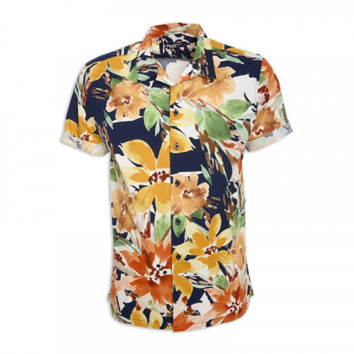 Floral Short Sleeve Shirt -