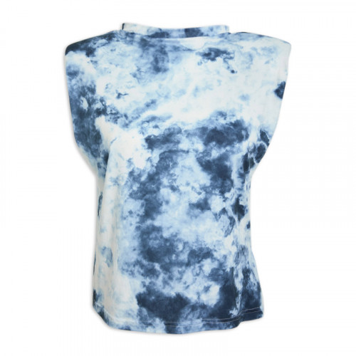 Navy Tie-Dye Padded T-Shirt -