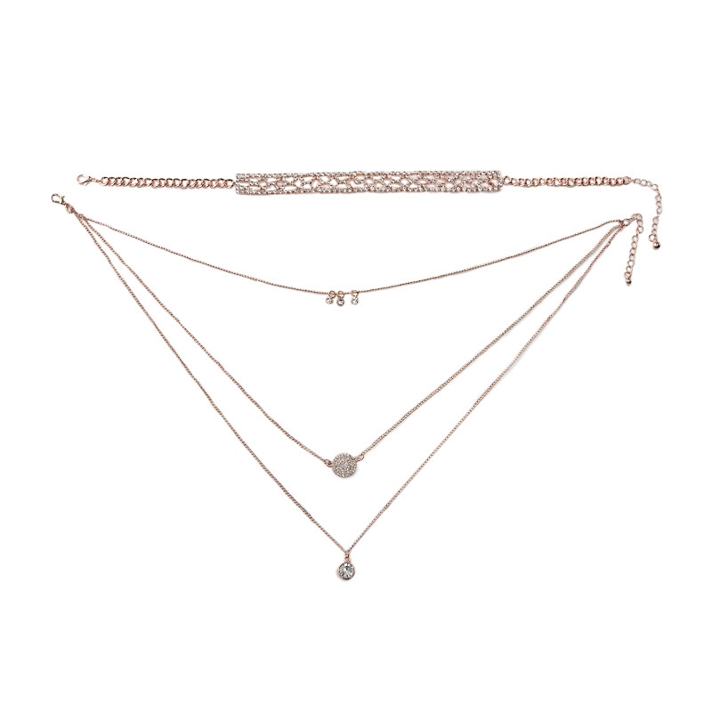 Rose Gold Diamante Choker -