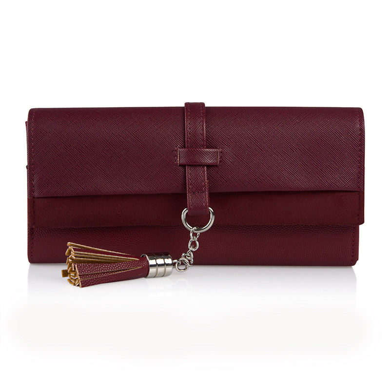 Burgundy Tassel Wallet -