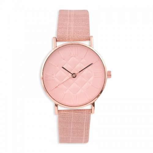Rose Texturised Watch -