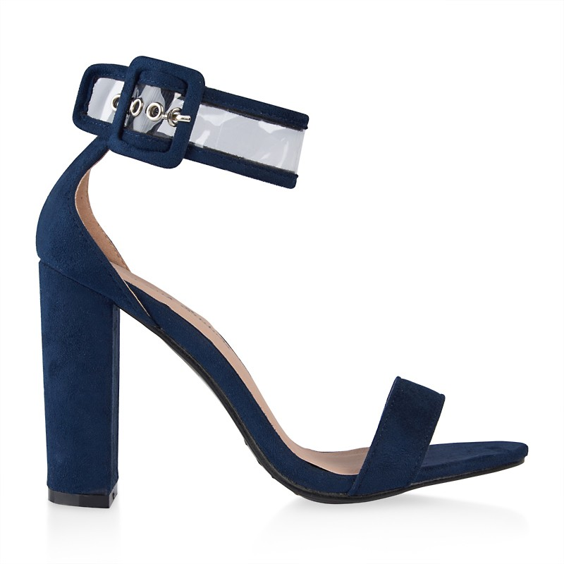 Navy Buckle Detail Sandal -