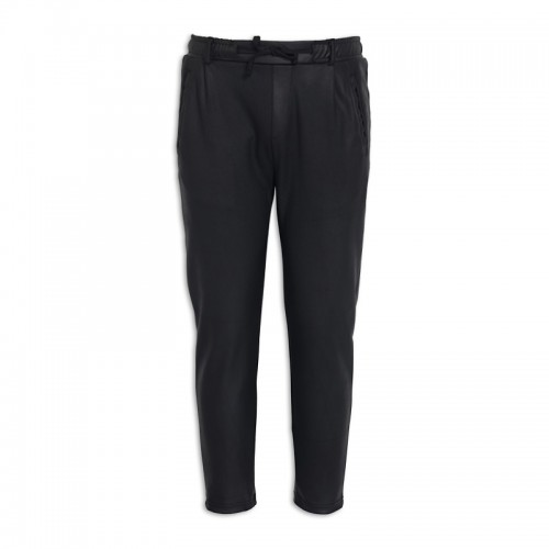 Black Pleather Track Pants -
