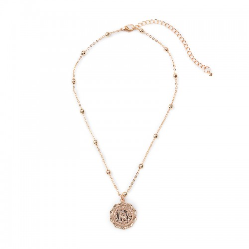 Gold Medallion Necklace -