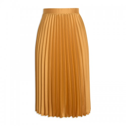 Mustard Pleated Skirt -